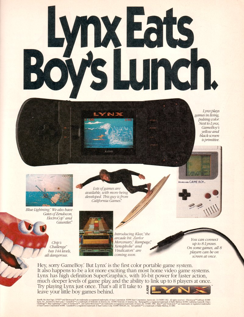 Gameboy color ad - Atari Lynx Ad Lynx Download Image Gameboy Color